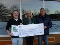 I received the cheque for £1155 from Steve (Doc) Holliday and John Bromby. They organised a disco at Brumby Club in Dec.